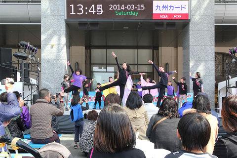 むなかた三女神記 博多駅PR公演のようす-その2