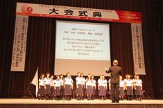 いわき市立湯本第一中学校・合唱部 合唱の様子
